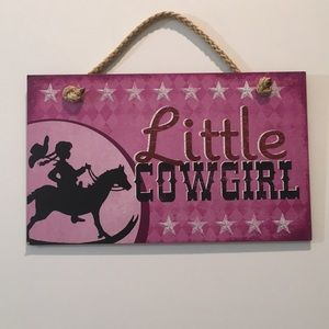 """Little Cowgirl"" Wall Decor"